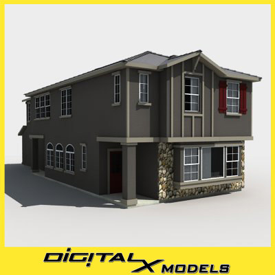3d subdivision house model