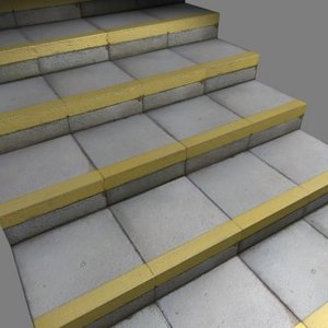 3d model slab steps