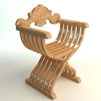 3ds max chair savonarola