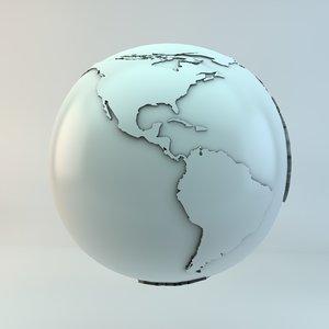 3ds max mundo globe earth