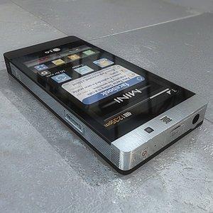 lg gd880 mini 3d model