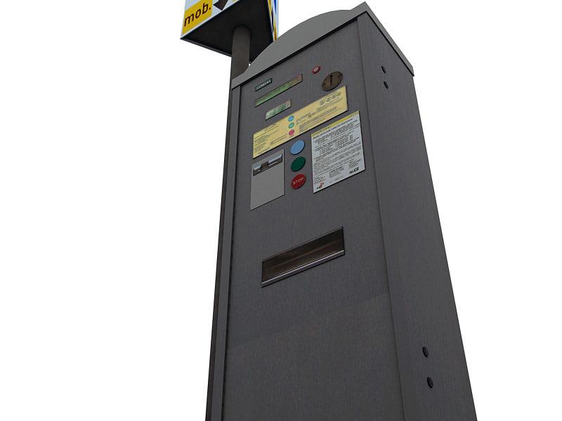 parking meter 3d 3ds
