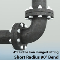 Pipes 4in Short Radius 90 Degree Bend