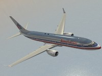 boeing 737-800 american airlines 3d model