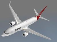 boeing 737-800 qantas 3d c4d