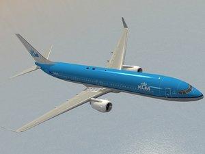 3d boeing 737-900 klm