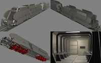 3ds max armored train maglev