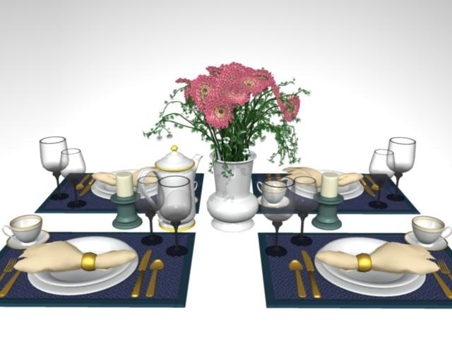 dining accessories 3ds