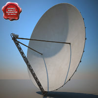 big satellite dish 3d model