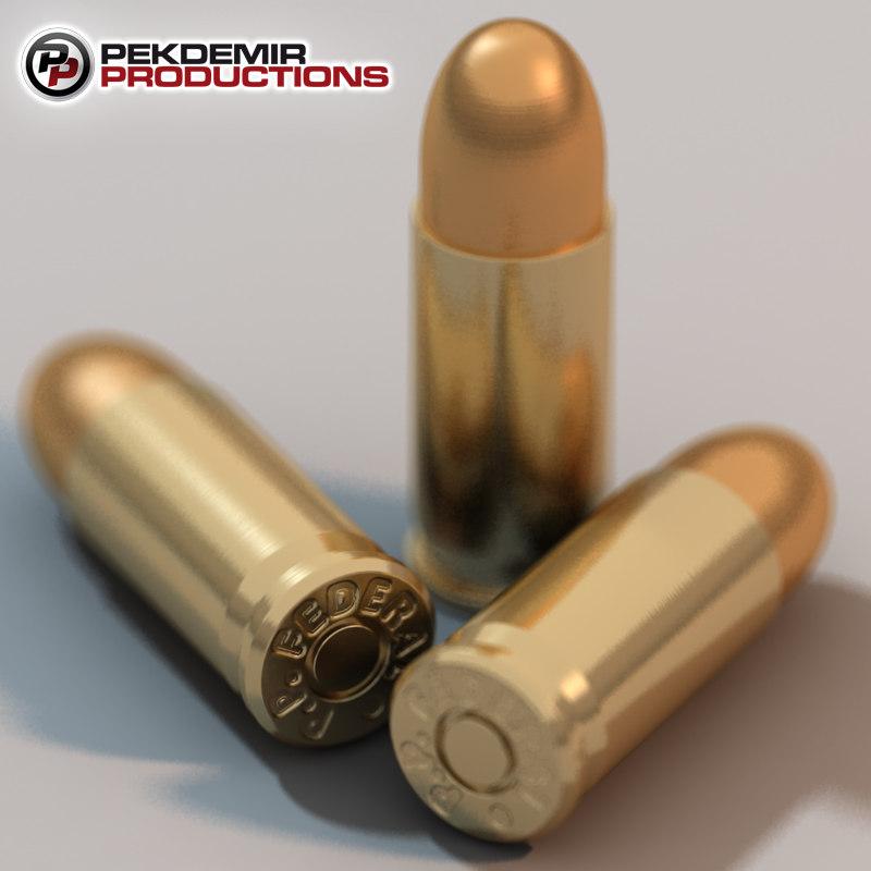 maya 9mm bullet shell