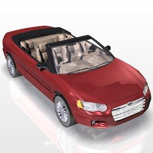 3d model car chrysler sebring