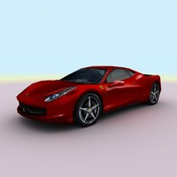 458 italia sports car 3d c4d