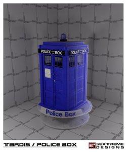 free 3ds model tardis police box