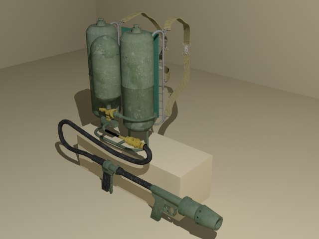 portable flame thrower 3d model