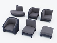 gloster horizon garden chair 3d max