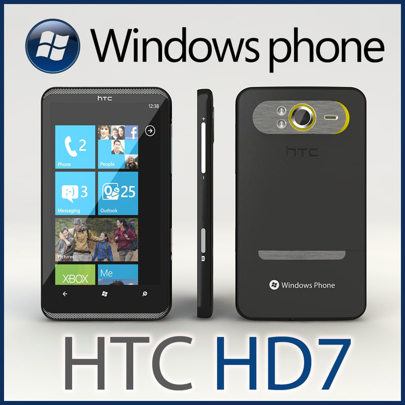 3d model windows phone htc hd7