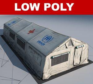 3d model tents hospital 01