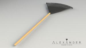3d lawn leaf rake