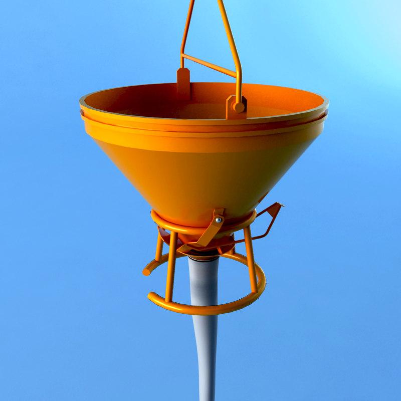 3d concrete bucket
