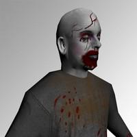 3d zombie gore model
