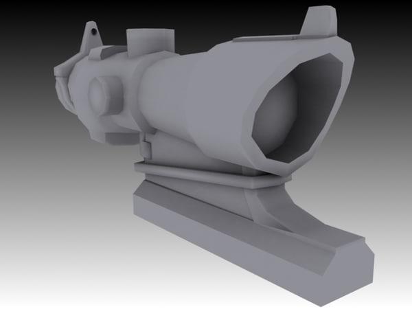 3dsmax acog 4x32 scope