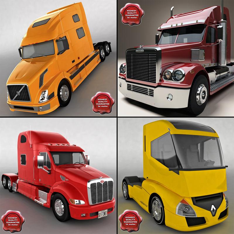 3d model trucks v8