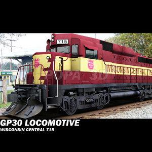 3dsmax gp30s locomotive central