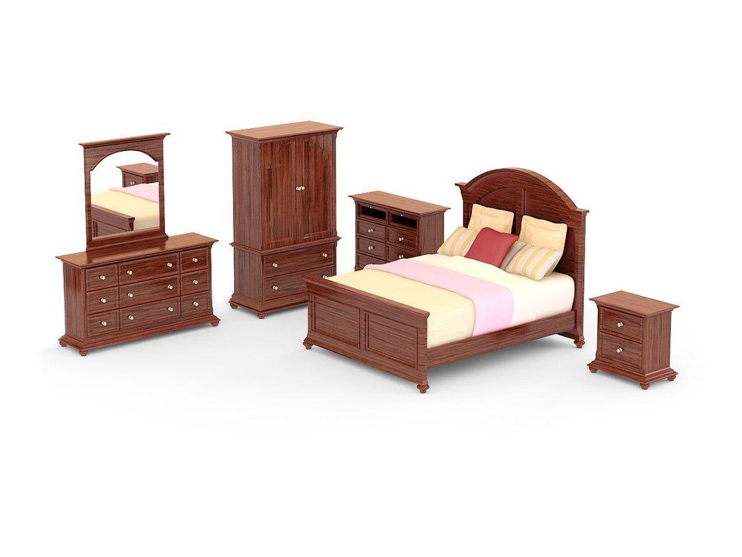 bedroom set - canyon 3d max