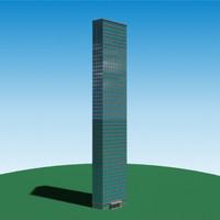 realistic skyscraper 3d obj