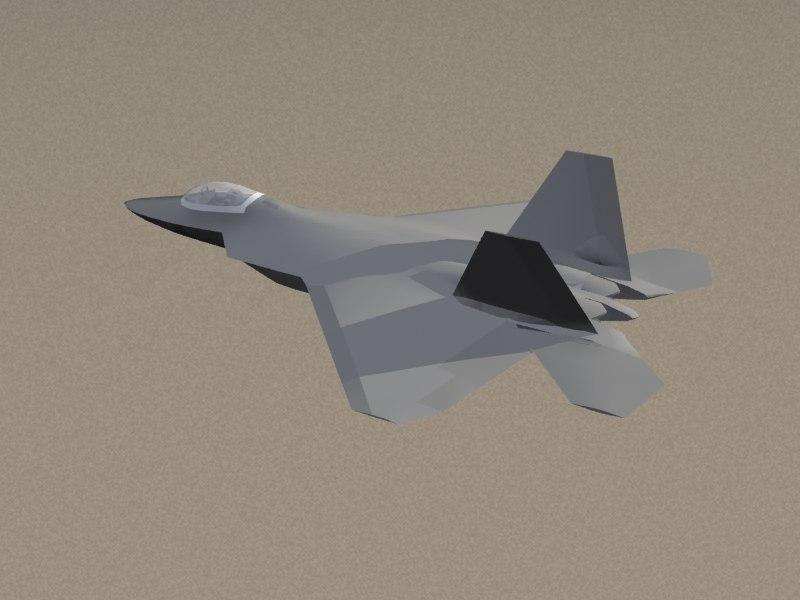f-22 raptor stealth 3d max