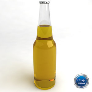 3d model of beer bottle