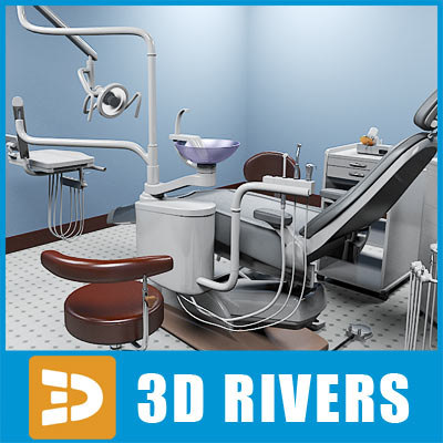 3ds max dental office dentist set