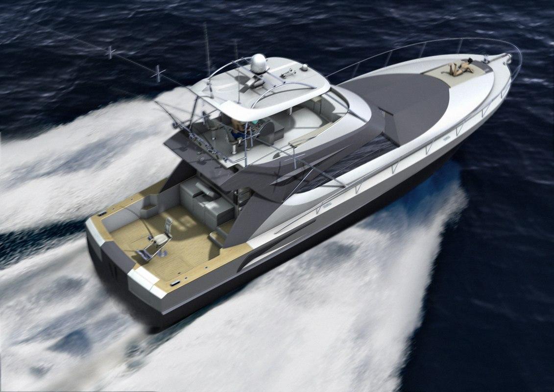 3d model 60' sport fisher details