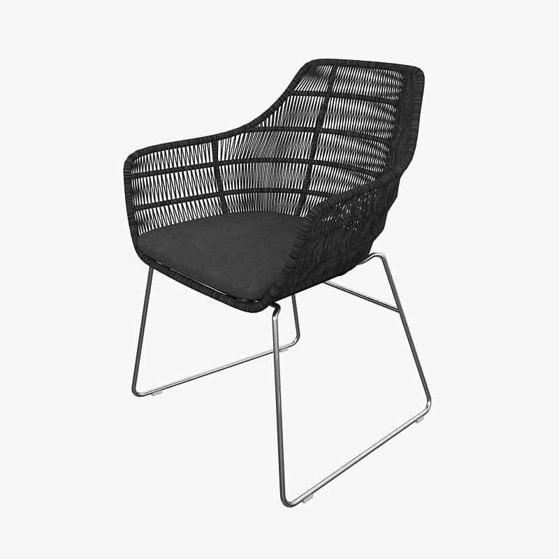 3dsmax chair b italia