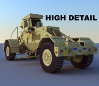 husky detection military vehicle 3d max