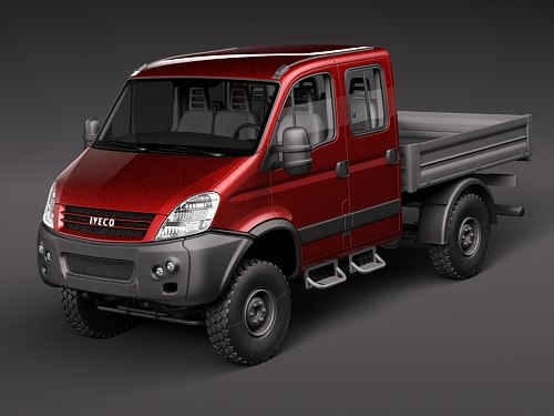 3d iveco daily 4x4 truck model