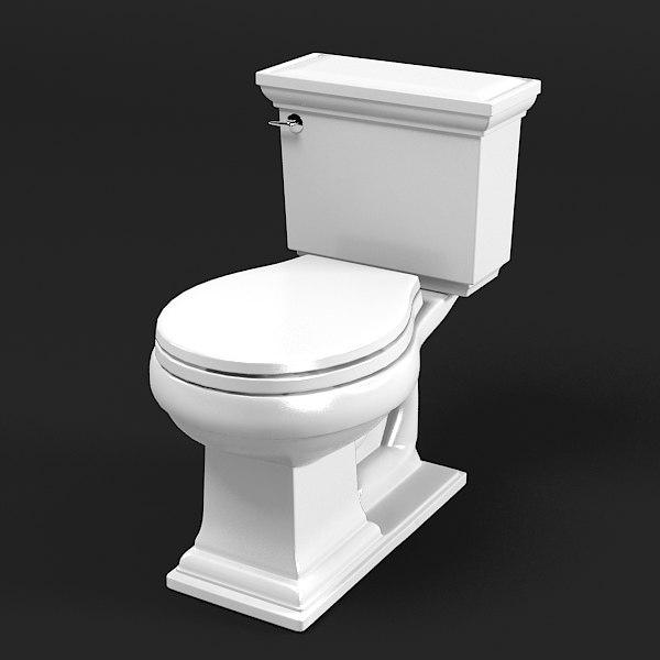 3ds max kohler toilet wc - Wc model ...