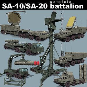 sa-10 sa-20 battalion transporter 3d model