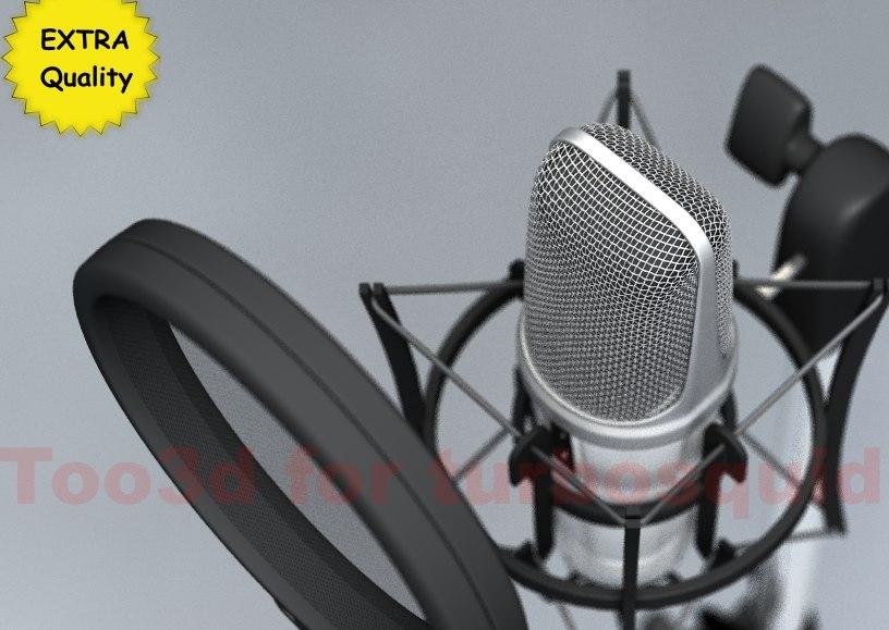 mic highres pop 3d c4d