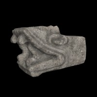 3d model mayan snake