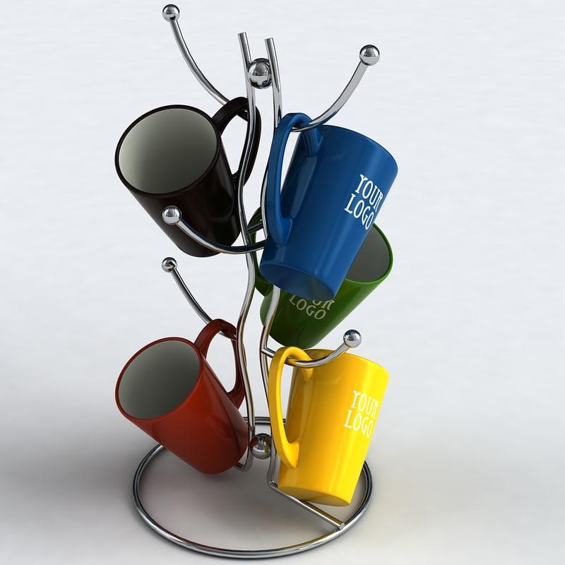 mug holder 3d 3ds