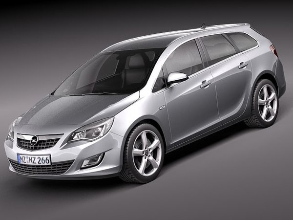 3d opel astra touring estate model