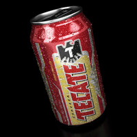 3d model of tecate beer