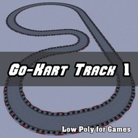 Low Polygon Go-Kart Track 1