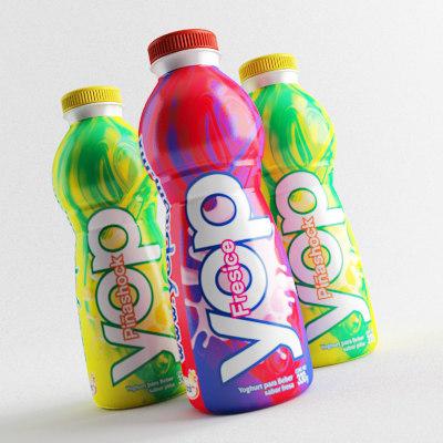 3d model yogurt yop