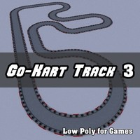 Low Polygon Go-Kart Track 3