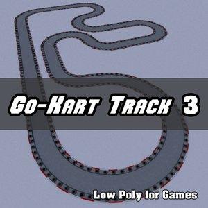 3d model go-kart track