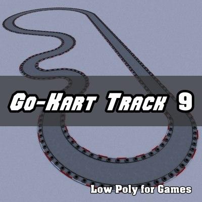 go-kart track 3d obj