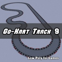 Low Polygon Go-Kart Track 9