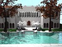 pool house 3d model